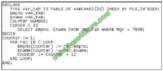 pass4itsure 1z0-148 exam question q7