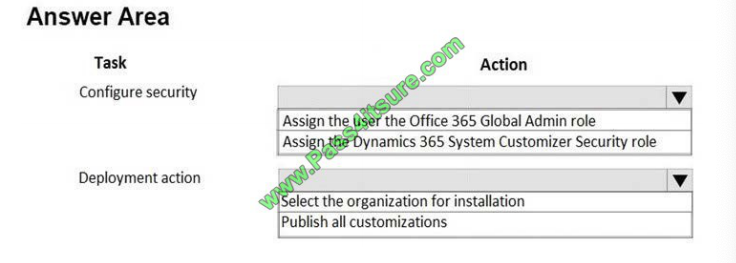Pass4itsure Microsoft mb-210 exam questions q2